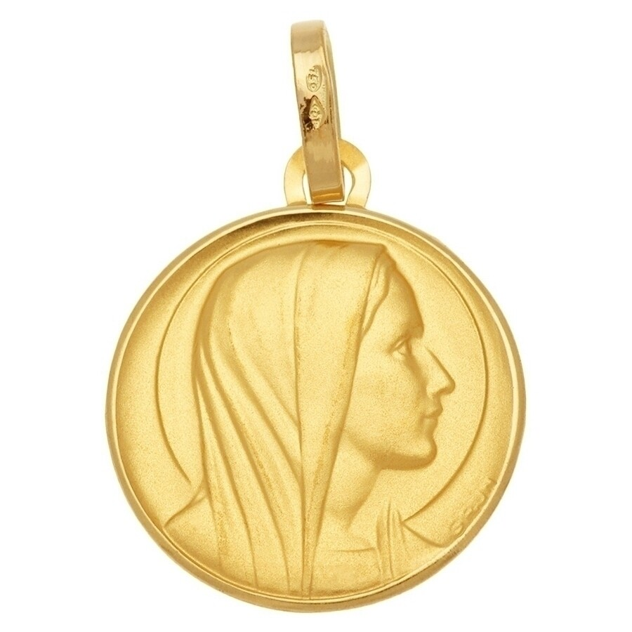 Photo de Médaille Vierge contemplation - Or jaune 18ct
