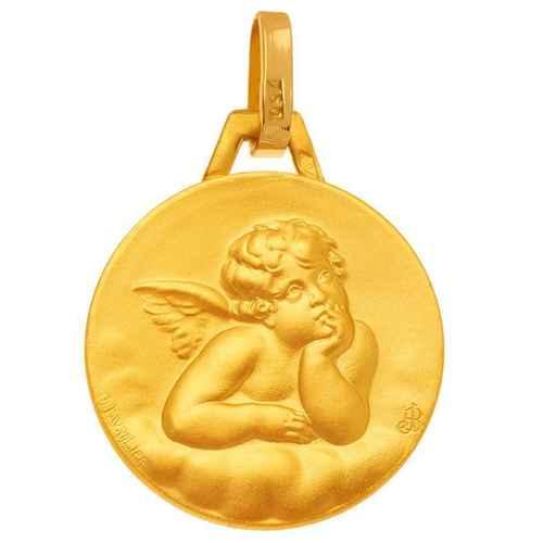 Photo de Médaille Ange contemplatif - Or jaune 18ct