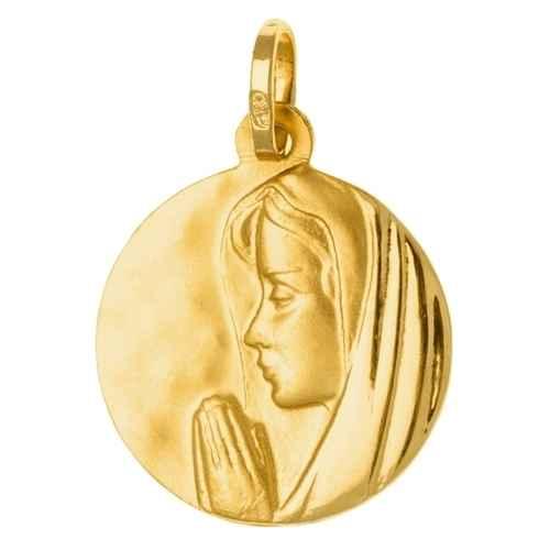 Photo de Médaille Vierge en prière - Or jaune 18ct