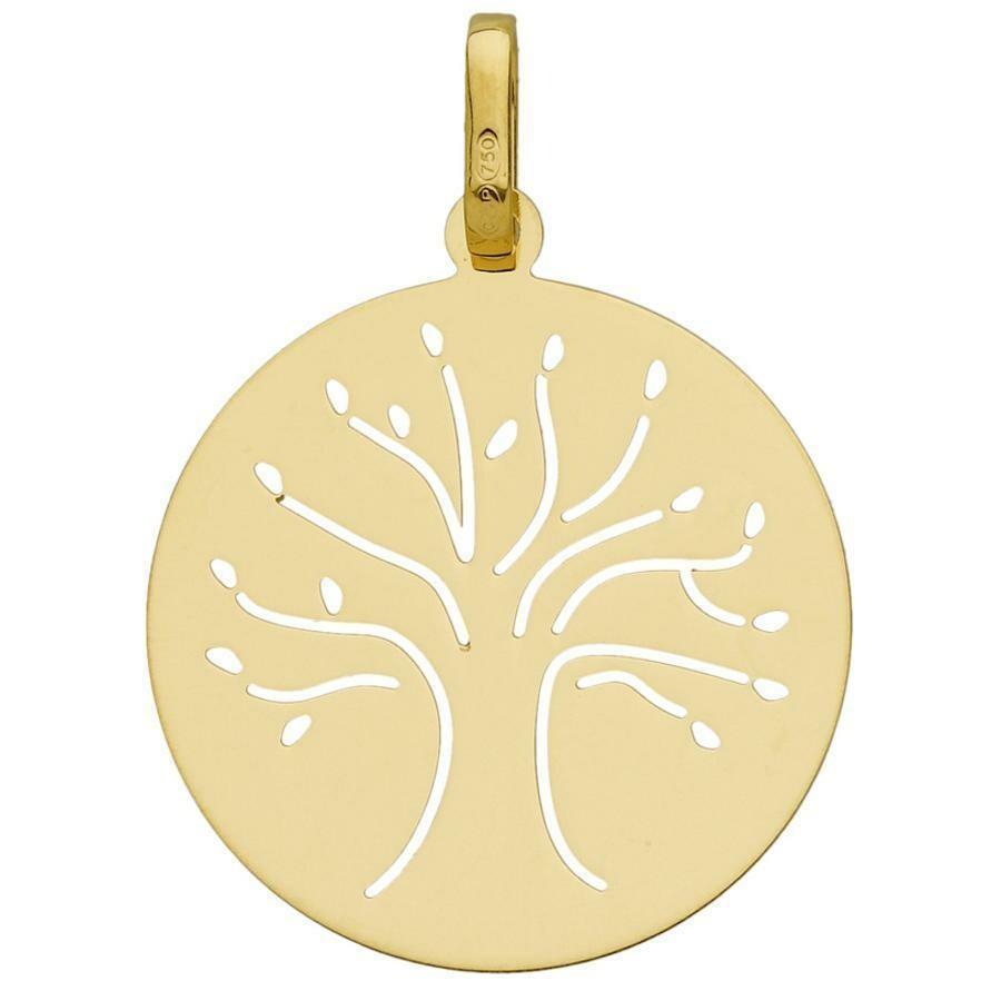 Photo de Médaille Arbre de vie élancé ajourée - Or jaune 18ct