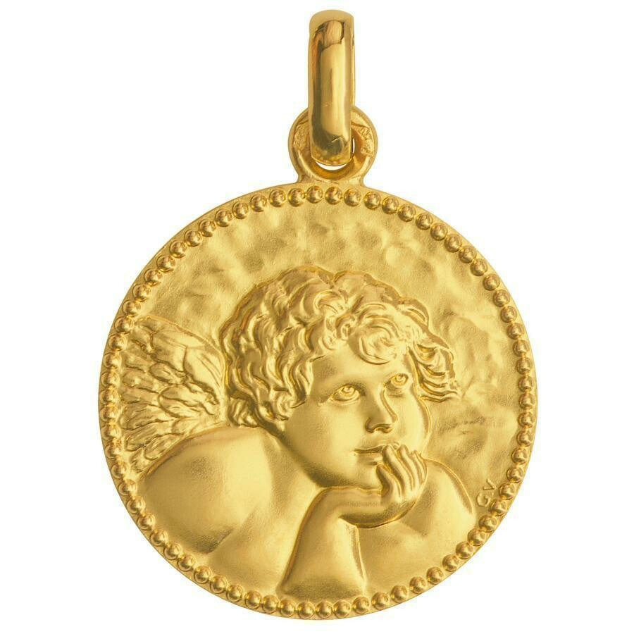 Photo de Médaille Ange de Raphael - Or jaune 18ct