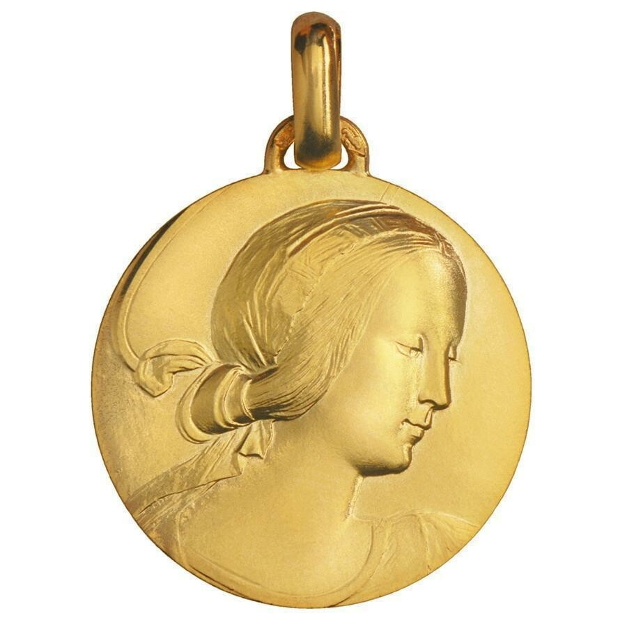 Photo de Médaille Vierge de Milan - Or jaune 18ct