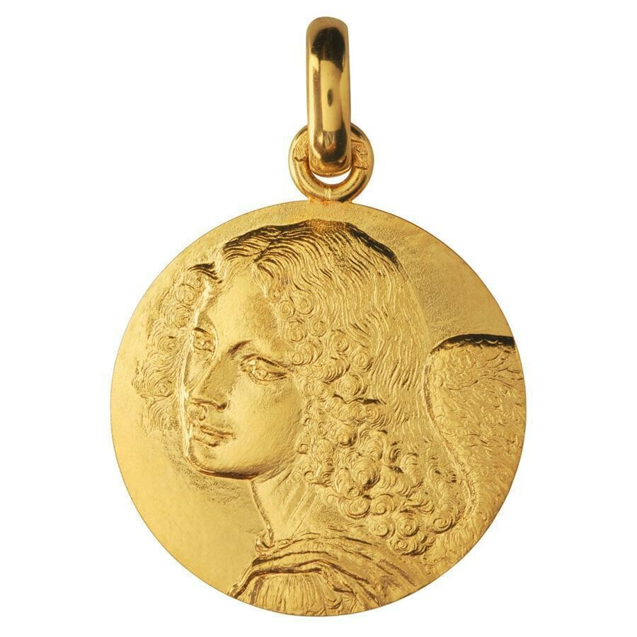 Photo de Médaille Ange de Leonard de Vinci - Or jaune 18ct