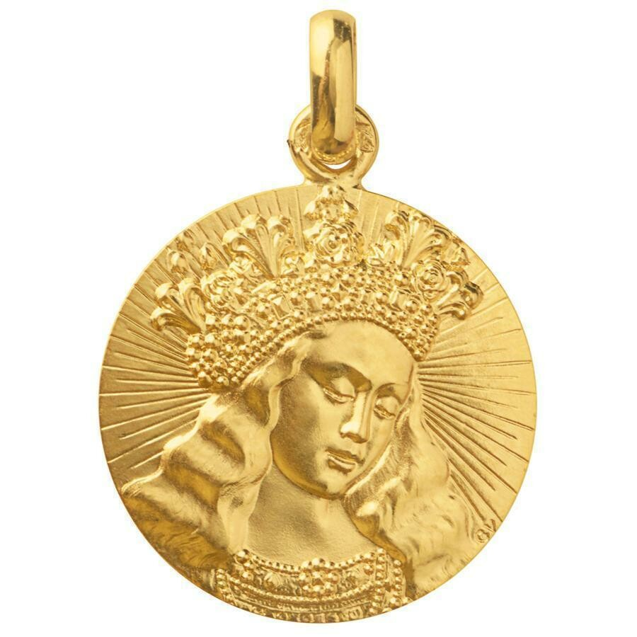 Photo de Médaille Vierge de Van Eyck - Or jaune 18ct
