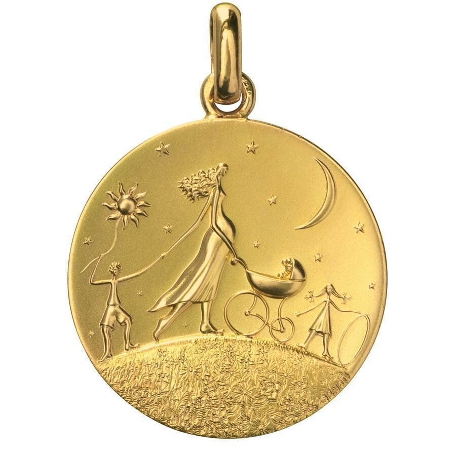 "Photo de Médaille ""Ronde de la Vie"" - Or jaune 18ct"