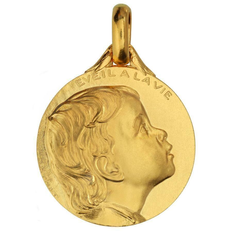 Photo de Médaille Eveil à la Vie - Or jaune 18ct