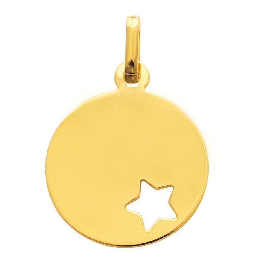 Photo de Médaille étoile ajourée - Or jaune 9ct