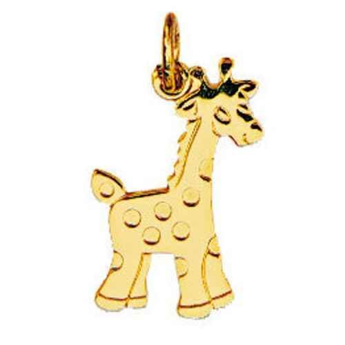 Photo de Pendentif girafe - Or jaune 18ct