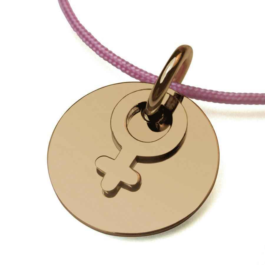 "Photo de Pendentif ""I am a girl"" - Or jaune 18ct"
