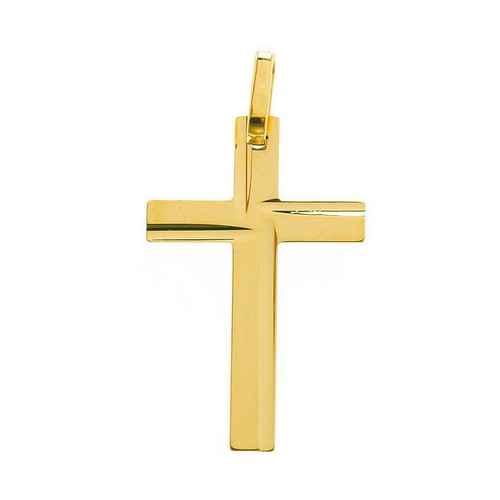 Photo de Croix diamantée personnalisée - Or jaune 18ct