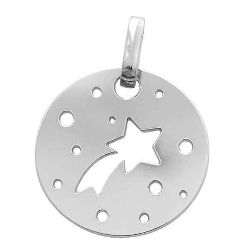 Photo de Médaille étoile filante - Or blanc 18ct