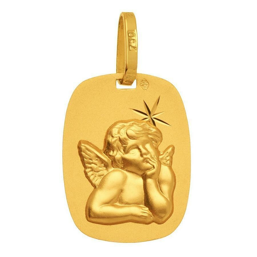 Photo de Médaille Ange Raphaël - Or jaune 18ct
