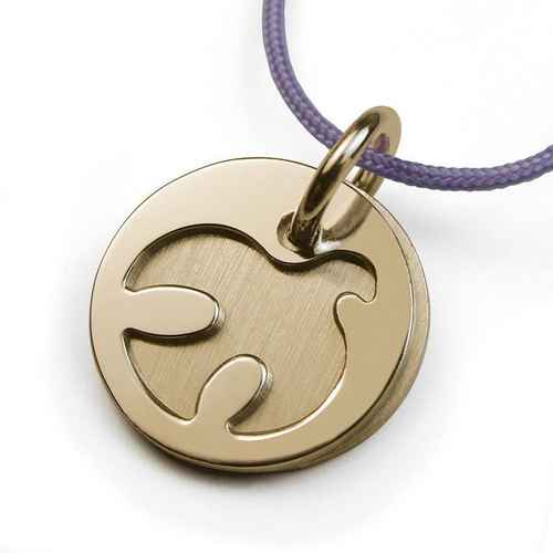 Photo de Pendentif colombe Paloma - Or jaune 18ct