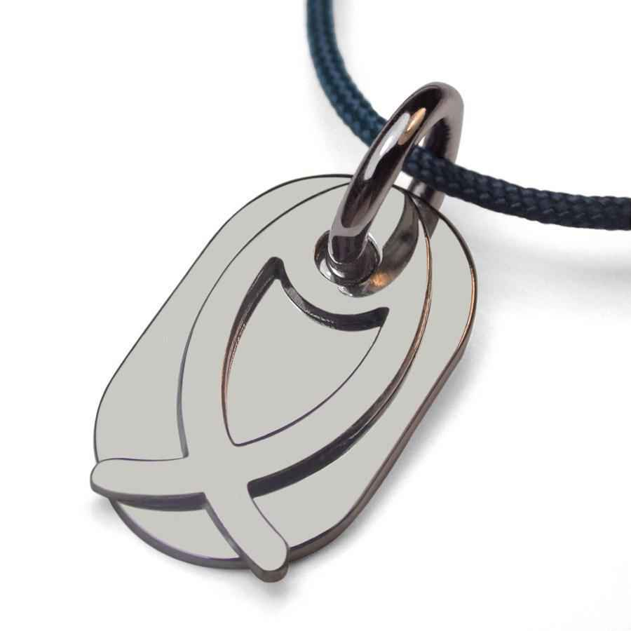Photo de Pendentif Ichthys - Or blanc 18ct