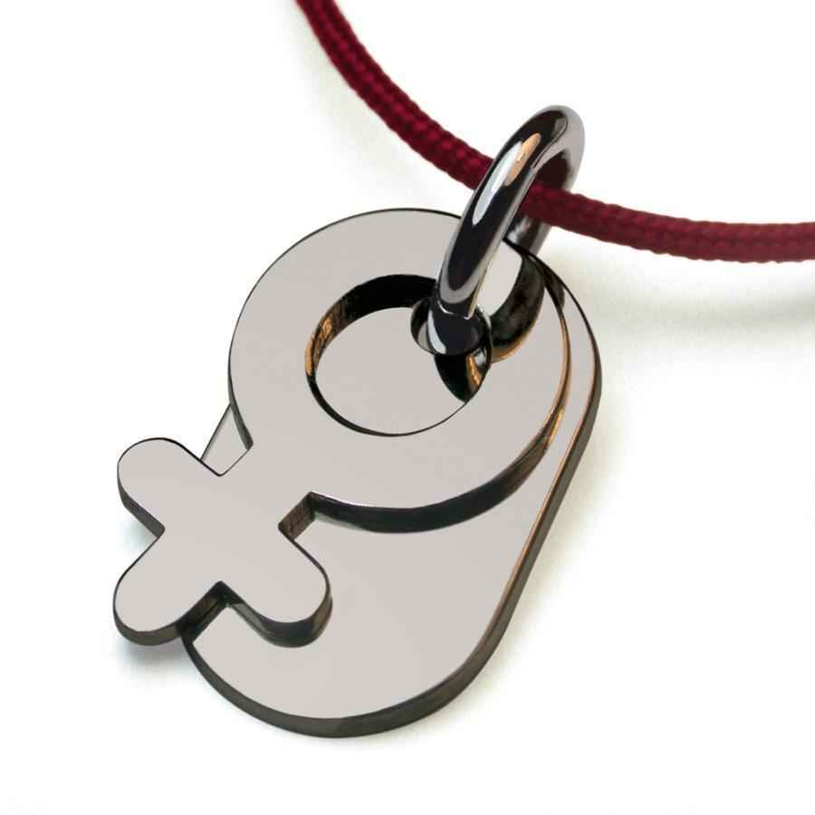 Photo de Pendentif Sex Symbol Girl - Or blanc 18ct
