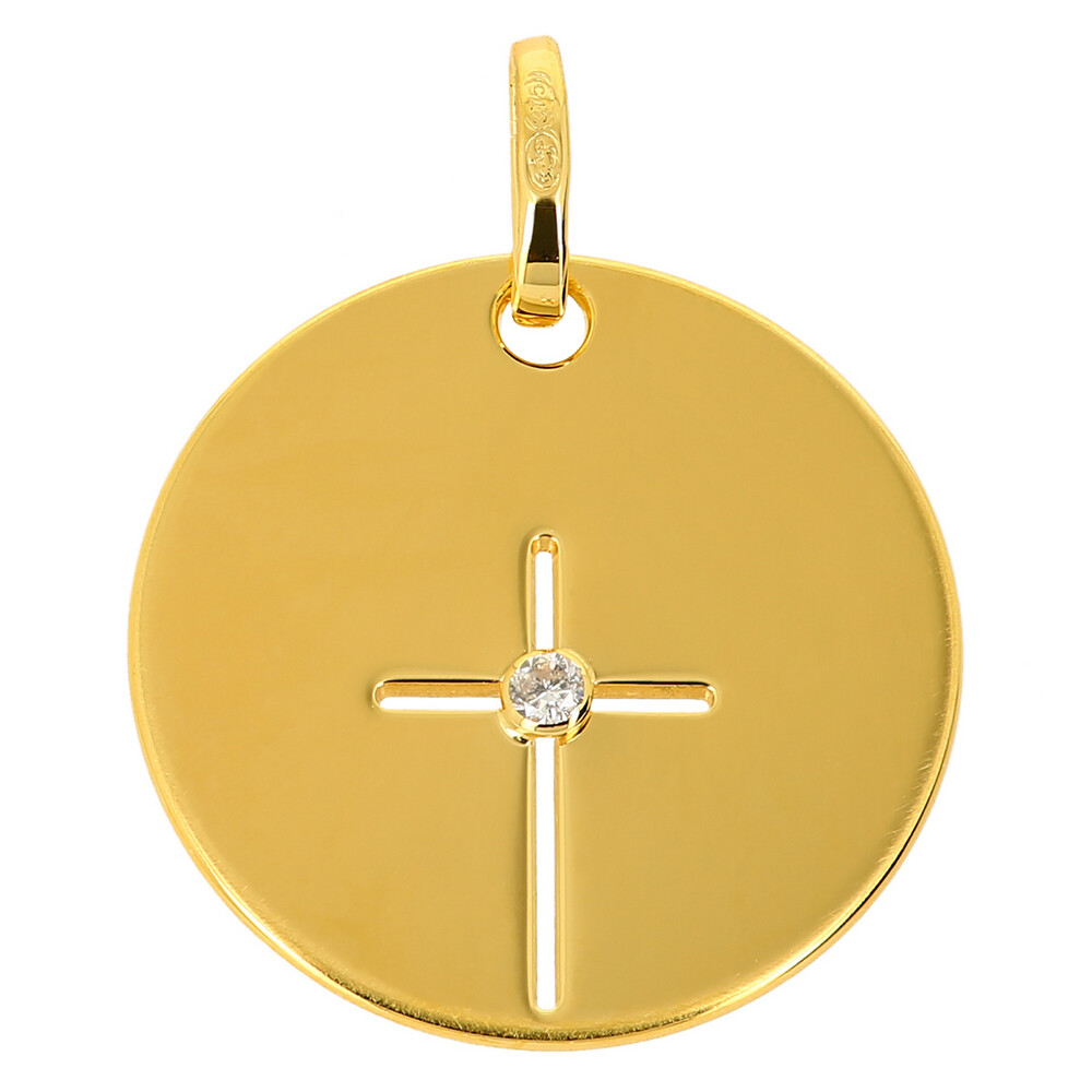 Photo de Médaille croix - Or jaune 9ct