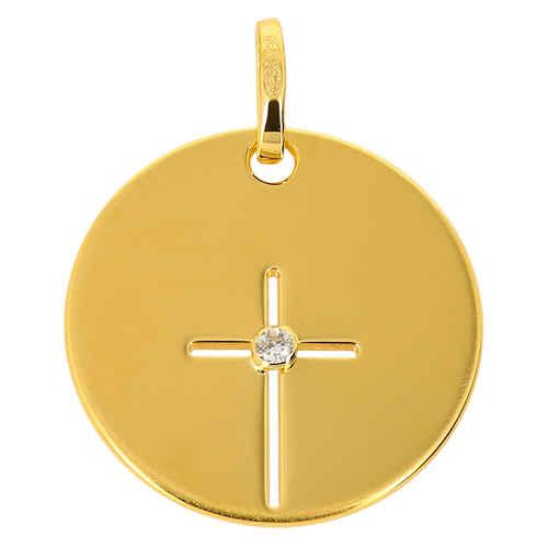 Photo de Médaille croix - Or jaune 9ct