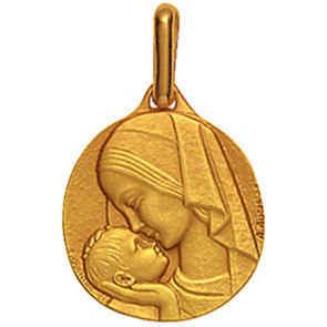 Photo de Médaille Amour Maternel - Or jaune 18ct