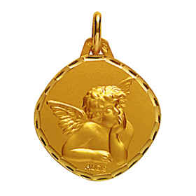 Photo de Médaille Ange Raphaël - Or jaune 18ct