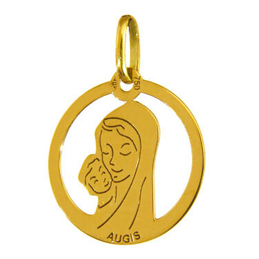 Photo de Médaille Maternité ajourée - Or jaune 18ct