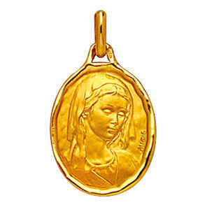 Photo de Médaille Vierge - Or jaune 18ct