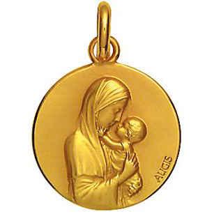 Photo de Médaille Vierge maternelle - Or jaune 18ct