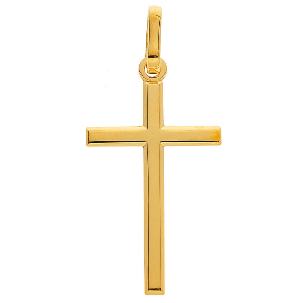 Photo de Croix semi plate - Or jaune 9ct