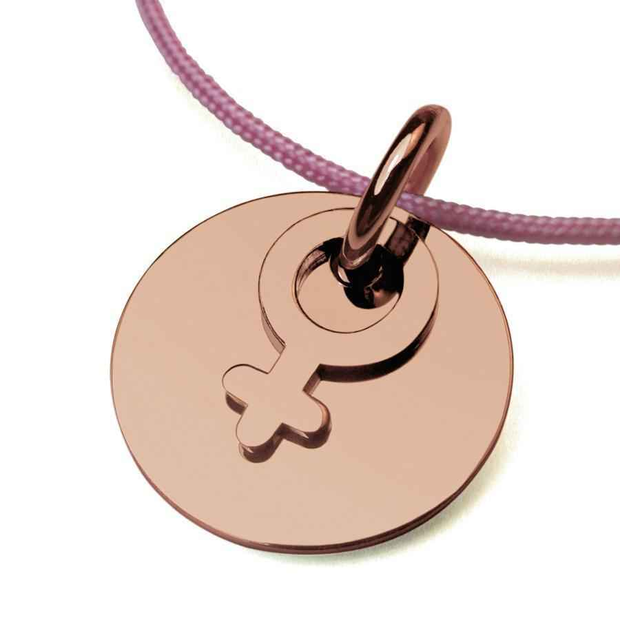 "Photo de Pendentif ""I am a girl"" - Or rose 18ct"
