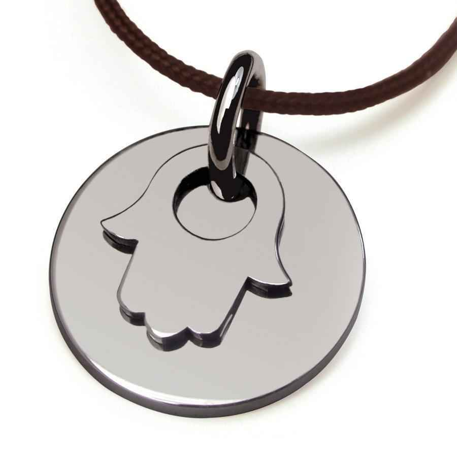 Photo de Pendentif Believe Main de Fatma - Or blanc 18ct