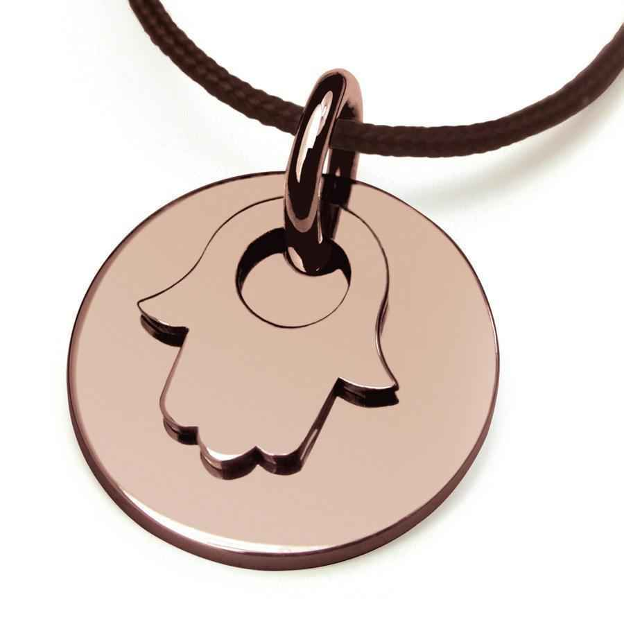 Photo de Pendentif Believe Main de Fatma - Or rose 18ct