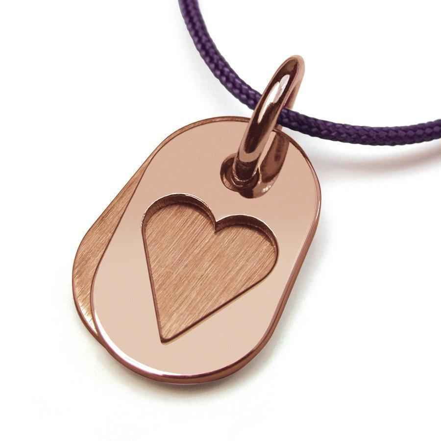 Photo de Pendentif Corazon - Or rose 18ct