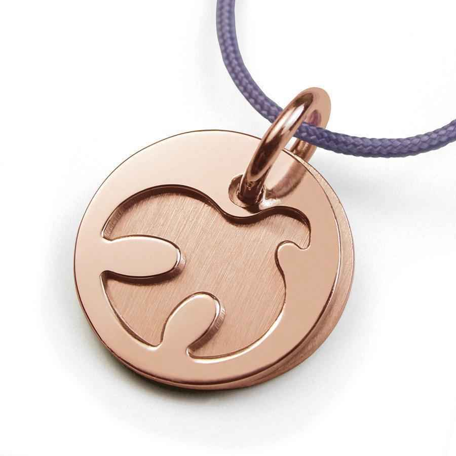 Photo de Pendentif colombe Paloma - Or rose 18ct