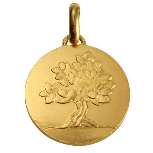 "Photo de Médaille ""Je grandirai comme un arbre"" - Or jaune 18ct"