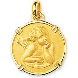 Photo de Médaille Ange ronde - Or jaune 18ct