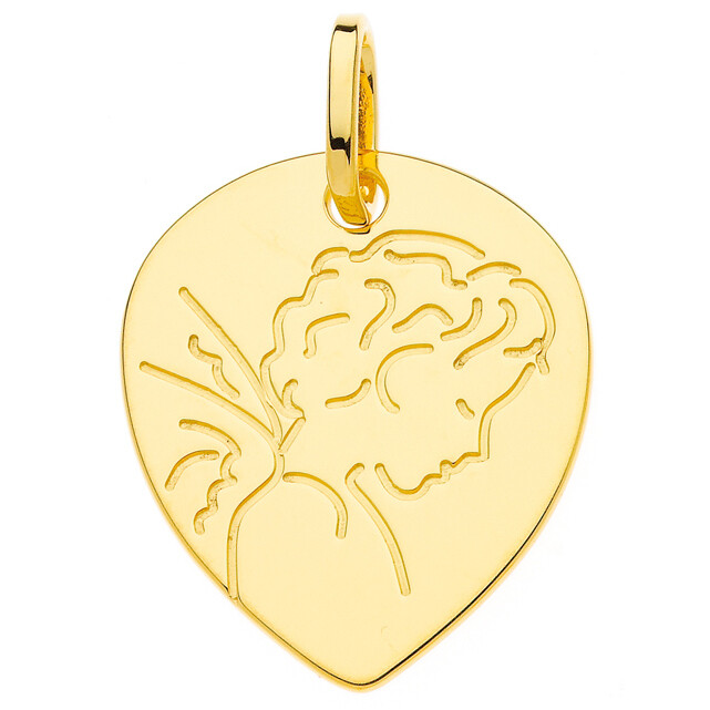 Photo de Médaille Ange - Or jaune 9ct