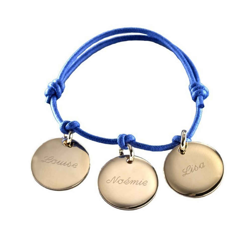 Photo de Bracelet Petits Trésors - plaqué or