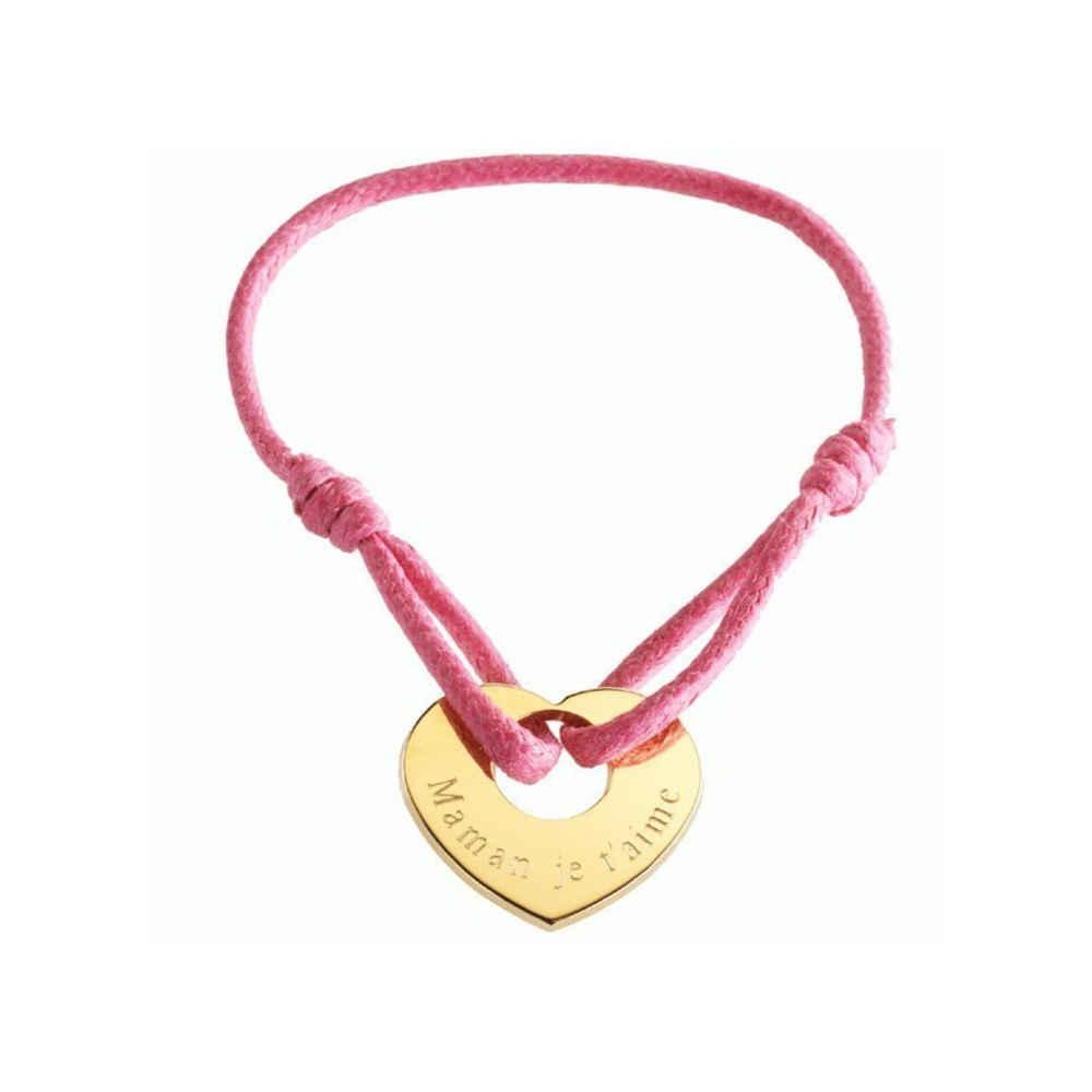 Photo de Bracelet A Coeur de Peau - plaqué or