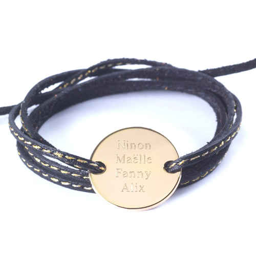 Photo de Bracelet Amazone Family - plaqué or