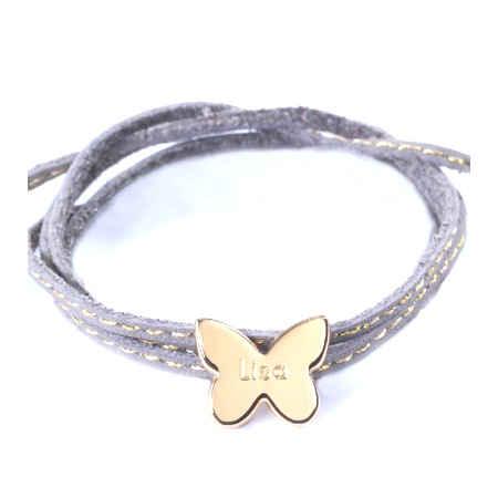 Photo de Bracelet Amazone Papillon - plaqué or