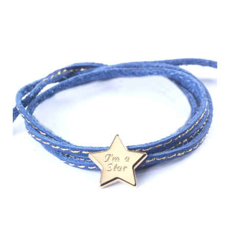 Photo de Bracelet Amazone Star - plaqué or