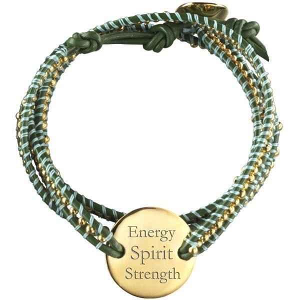 Photo de Bracelet Indian Vert Small - plaqué or