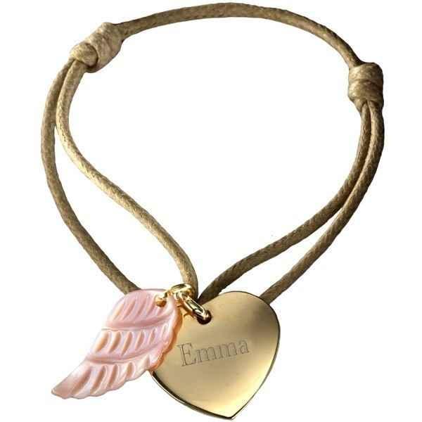Photo de Bracelet Coeur d'Ange - plaqué or & nacre