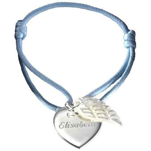 Photo de Bracelet Coeur d'Ange - Argent massif & nacre