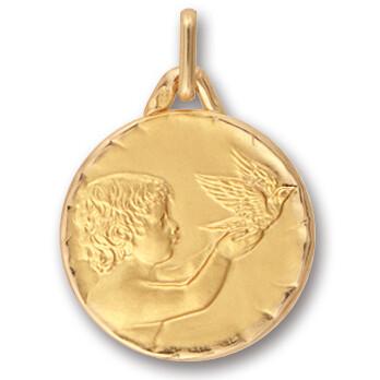 Photo de Médaille Ange aux oiseaux - Or jaune 18ct