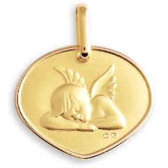 Photo de Médaille Ange assoupi - Or jaune 18ct