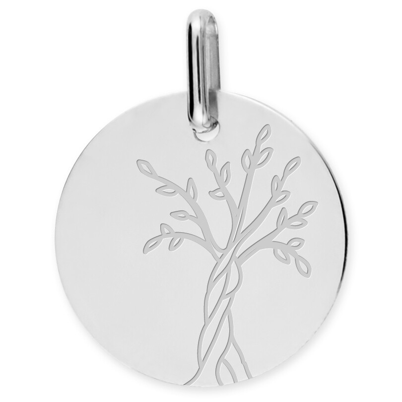 Photo de Médaille Arbre de vie naissant - Or blanc 9ct