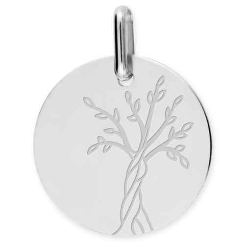 Photo de Médaille Arbre de vie naissant - Or blanc 18ct