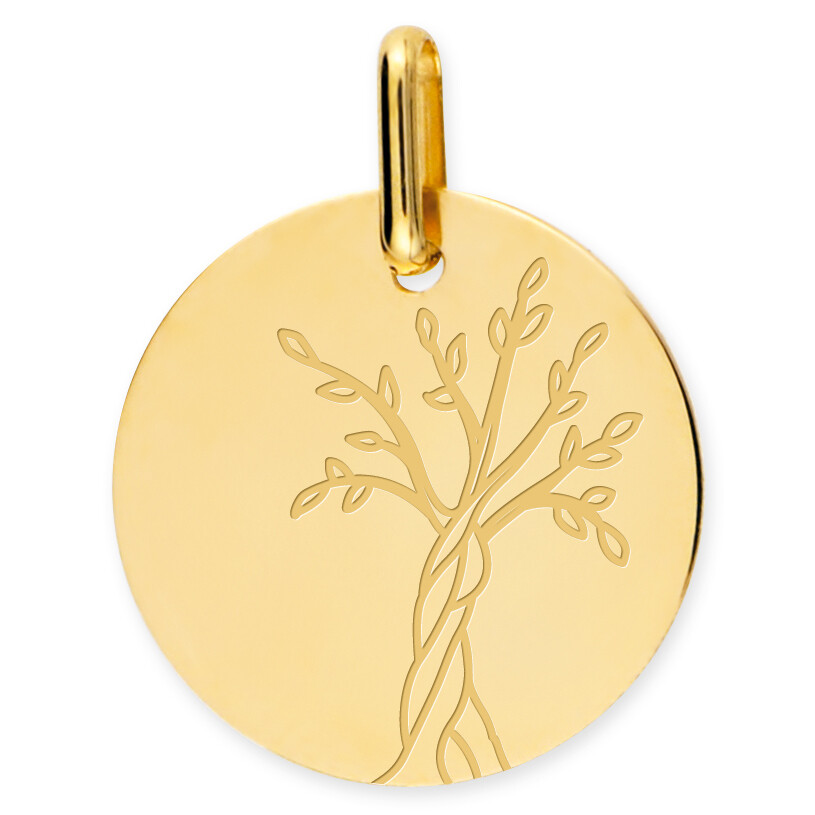 Photo de Médaille Arbre de vie naissant - Or jaune 18ct