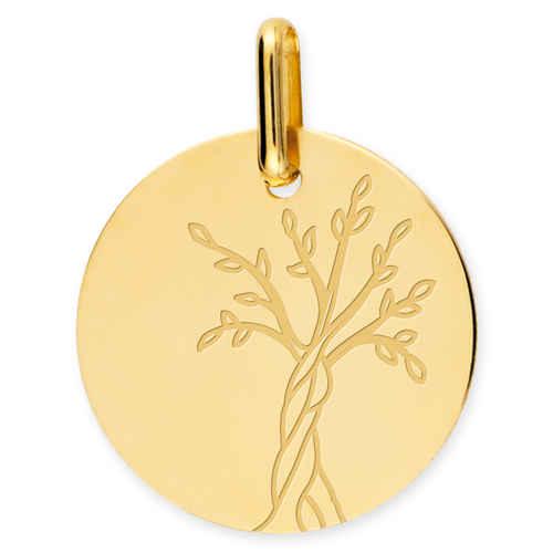 Photo de Médaille Arbre de vie naissant - Or jaune 18ct