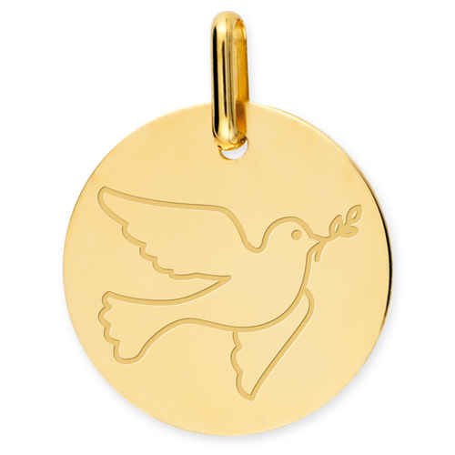 Photo de Médaille Colombe - Or jaune 18ct